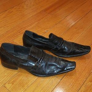 Aldo black dress shoes men size 12